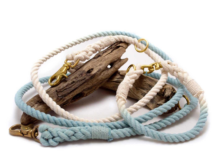 Lederleinen und Lederhalsbänder für Hunde aus Fettleder