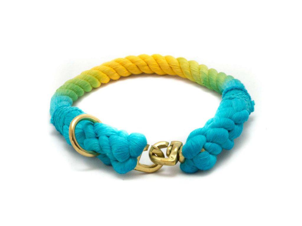 Tauhalsband Rainbow für Hunde - taukunst Manufaktur
